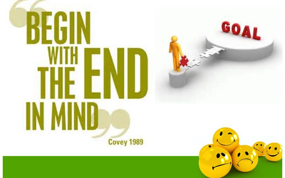 Resolution Writing Tip. Begin with the end in mind.
