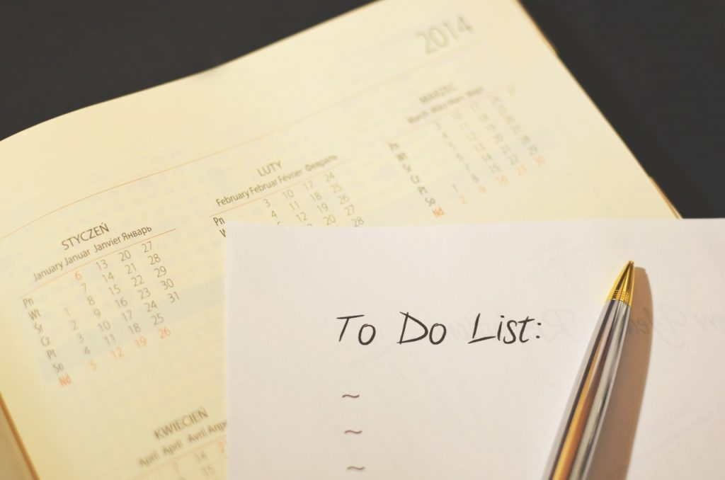 bucket lists resolutions habits